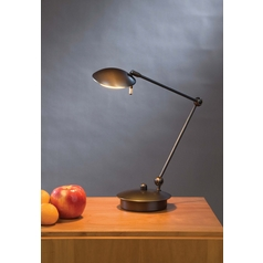Holtkoetter Modern Swing Arm Lamp in Hand-Brushed Old Bronze Finish