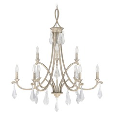 Capital Lighting Harlow Silver Quartz Crystal Chandelier