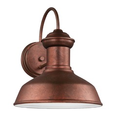 Sea Gull Fredricksburg Weathered Copper LED Outdoor Wall Light