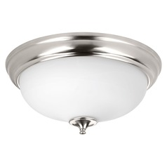 Progress Lighting LED Alabaster Brushed Nickel LED Flushmount Light