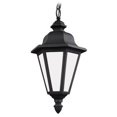 Sea Gull Lighting Brentwood Black LED Outdoor Hanging Light