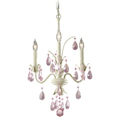 Crystal Chandelier in Ivory Finish