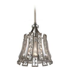 Feiss Lighting Soros Ebonized Silver Leaf Mini-Pendant Light