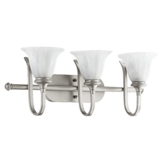 Quorum Lighting Randolph Classic Nickel Bathroom Light