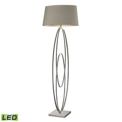 Dimond Lighting Polished Nickel LED Floor Lamp with Oval Shade