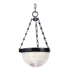 Hudson Valley Lighting Winfield Satin Nickel Pendant Light with Bowl / Dome Shade