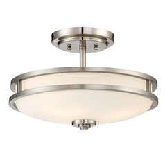 Quoizel Lighting Cadet Brushed Nickel Semi-Flushmount Light