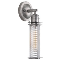 Industrial Style Industrial Galvanized with Metallic Silver Sconce by Progress Lighting