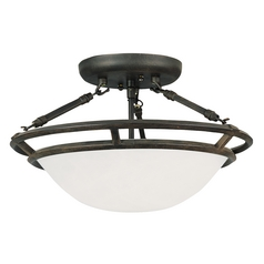 Maxim Lighting Stratus Bronze Semi-Flushmount Light