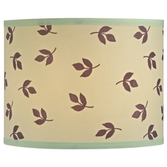 Drum Lamp Shade with Leaf Design