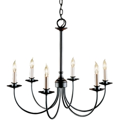 Hubbardton Forge 6-Light Chandelier in Mahogany