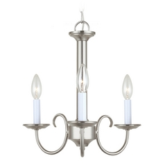 Mini-Chandelier in Brushed Nickel Finish