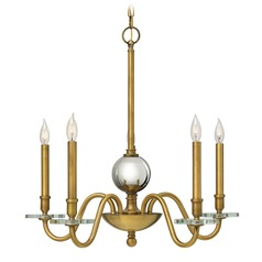 Hinkley Lighting Everly Heritage Brass Chandelier