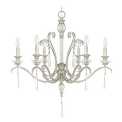 Capital Lighting Celine Antique Silver Crystal Chandelier