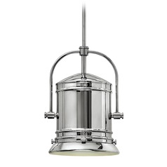 Hinkley Lighting Pullman Chrome LED Pendant Light with Cylindrical Shade