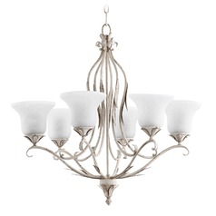 Quorum Lighting Flora Persian White Chandelier