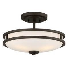 Quoizel Lighting Cadet Old Bronze Semi-Flushmount Light