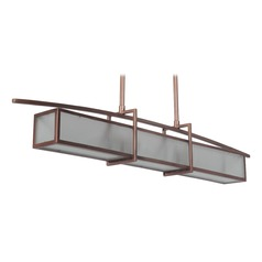 Craftmade Lighting Kodo Brushed Copper Island Light with Rectangle Shade