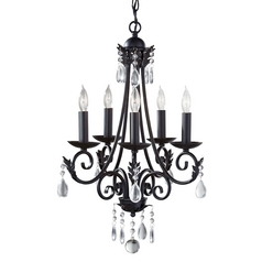 Feiss 5-Light Crystal Chandelier in Black