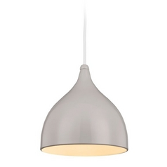 Feiss Lighting Dutch Silver Birch Mini-Pendant Light with Bowl / Dome Shade