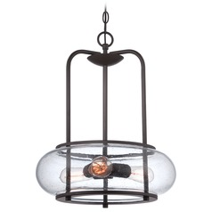 Quoizel Trilogy Old Bronze Pendant Light with Oblong Shade