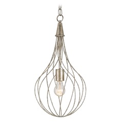 Currey and Company Lighting Whisk Silver Granello Pendant Light