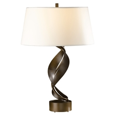 Hubbardton Forge Lighting Folio Bronze Table Lamp with Drum Shade