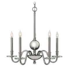 Hinkley Everly 5-Light Chandelier in Polished Nickel
