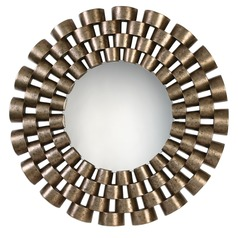 Art Deco Decorative Mirror Silver Taurion by Uttermost Lighting
