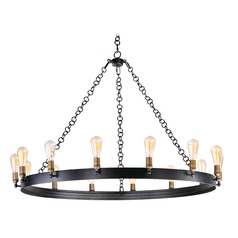 Maxim Lighting Noble Black / Natural Aged Brass Chandelier