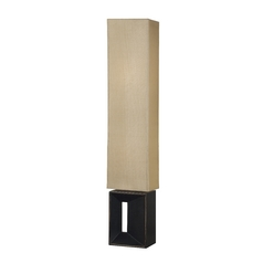 Modern Floor Lamp with Amber Shades in Oil Rubbed Bronze Finish