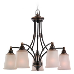 Sea Gull Lighting Warwick Autumn Bronze Chandelier