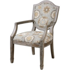 Uttermost Valene Weathered Accent Chair