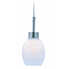 Lite Source Heloise Polished Steel Mini-Pendant Light with Bowl / Dome Shade