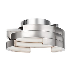 Kuzco Lighting Modern Brushed Nickel LED Flushmount Light 3000K 1015LM