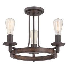 Quoizel Tavern Darkest Bronze Semi-Flushmount Light
