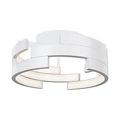 Kuzco Lighting Modern White LED Flushmount Light 3000K 1015LM