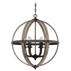 Quoizel Lighting Fusion Rustic Black Pendant Light