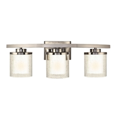 Seeded Glass Bathroom Light Satin Nickel Dolan Designs