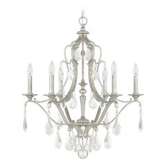 Capital Lighting Blakely Antique Silver Crystal Chandelier