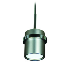 Jeremiah 5th Avenue Brushed Satin Nickel, Chrome Mini-Pendant Light with Cylindrical Shade