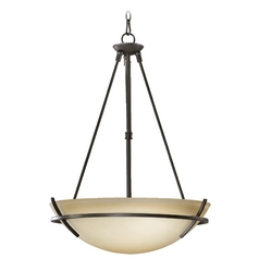 Quorum Lighting Bancroft Old World Pendant Light with Bowl / Dome Shade