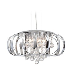 Lite Source Creola Chrome Pendant Light