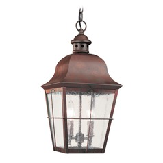 Sea Gull Lighting Chatham Weathered Copper LED Outdoor Hanging Light