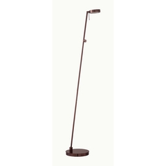 Modern LED Pharmacy Lamp in Chocolate Chrome Finish