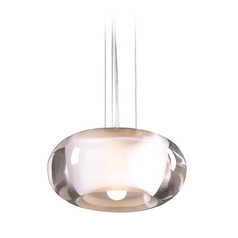 Modern Mini-Pendant Light with Clear Glass