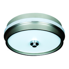 Jeremiah 5th Avenue Brushed Satin Nickel, Chrome Flushmount Light
