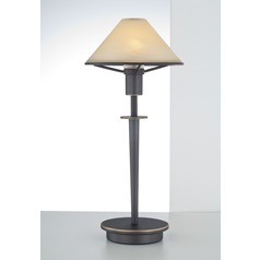 Holtkoetter Lighting Hand-Brushed Old Bronze Table Lamp with Conical Shade