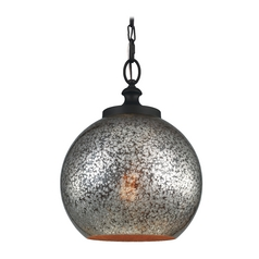 Mercury Glass Pendant Light Oil Rubbed Bronze Feiss Lighting