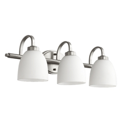 Quorum Lighting Reyes Classic Nickel Bathroom Light